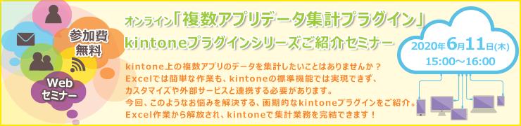 6月11日(木)オンライン開催「複数アプリデータ集計プラグイン」kintoneプラグインシリーズご紹介セミナー