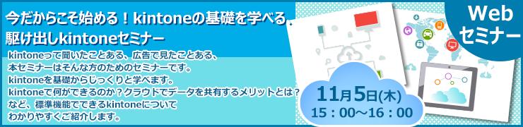 11月5日(木)オンライン「いまさら聞けないkintoneの基礎を学ぶ!駆け出しkintoneセミナー」